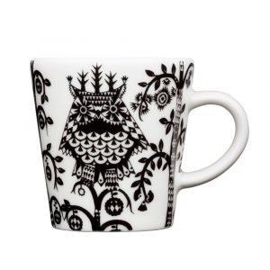 Iittala Taika Espresso Kuppi Musta / Valkoinen