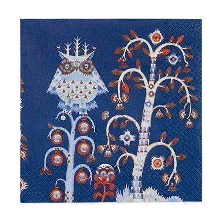 Iittala Taika Paperiservetti 33x33 cm Sininen 20-pack