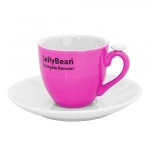 Jellybean Espressokuppi Vaaleanpunainen 2-Pakkaus