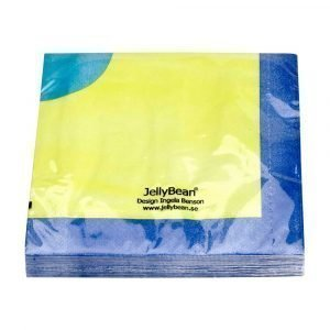 Jellybean Servetit Lime / Koboltinsininen / Aqua 20 Kpl
