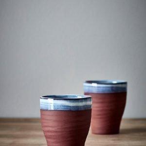 Jotex Ocean Kahvikupit Sininen 2-Pakkaus