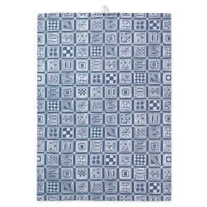 Juna Bw Squares Keittiöpyyhe Sininen 50x70 Cm