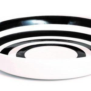 Kähler Design Omaggio Tarjoilukulho Musta Valkoinen 30 Cm