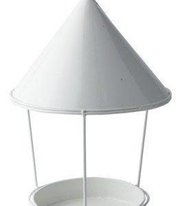 KJ Collection Lintulauta Sinkki/Valkoinen 22x33 cm