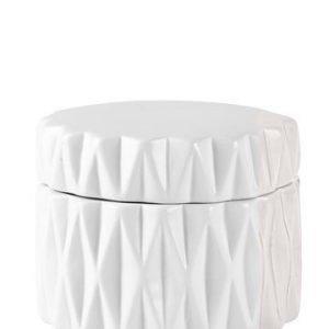 KJ Collection Purkki kannella Valkoinen 10 cm