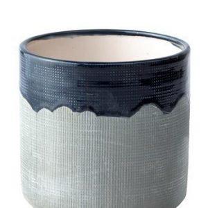 KJ Collection Ruukku Keramiikka Sininen/Harmaa 13 cm