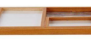 KJ Collection Tarjotin Puu Marmori Valkoinen 30x30 cm