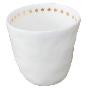 Kajsa Cramer Home Patchy Espressokuppi Dot Valkoinen / Kulta