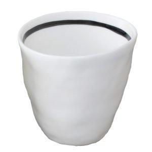 Kajsa Cramer Home Patchy Espressokuppi Raidallinen Valkoinen