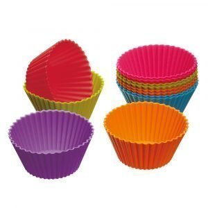 Kitchen Craft Colourworks Muffinssimuotit Silikoni 7 Cm 12-Pakkaus