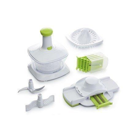 Kitchen Craft Monitoimikone muovia valkoinen/vihreä