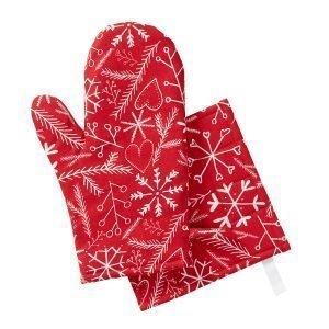 Klippan Yllefabrik Christmas Spirit Grillikinnas Punainen