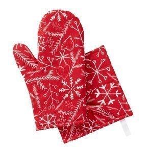 Klippan Yllefabrik Christmas Spirit Pannulappu Punainen