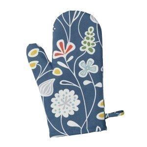Klippan Yllefabrik Flower Meadow Grillikinnas Sininen