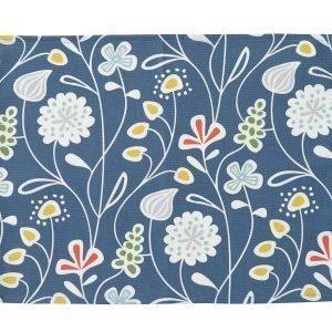 Klippan Yllefabrik Flower Meadow Kaitaliina Sininen