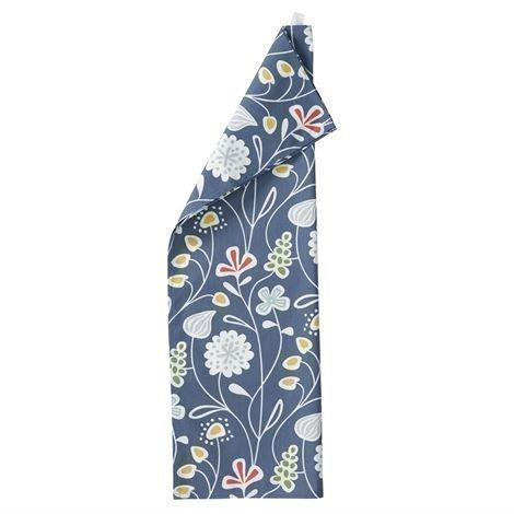 Klippan Yllefabrik Flower Meadow Keittiöpyyhe Sininen