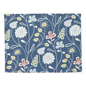 Klippan Yllefabrik Flower Meadow Pöytätabletti Sininen 45x35 Cm