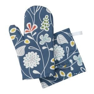Klippan Yllefabrik Flower Meadow Pannulappu Sininen