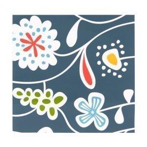 Klippan Yllefabrik Flower Meadow Servetti Sininen 20-Pakkaus