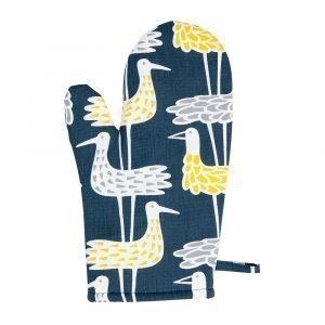 Klippan Yllefabrik Shore Birds Grillikinna Sininen