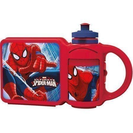 Kombi Pullo+Eväslaatikko Spiderman