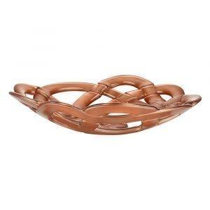 Kosta Boda Basket Bowl Large Copper