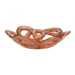 Kosta Boda Basket Bowl Small Copper