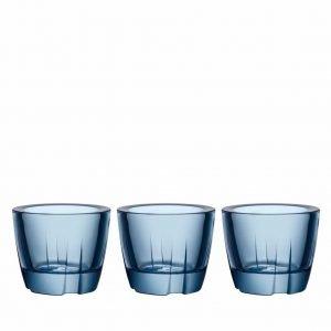 Kosta Boda Bruk Kynttilälyhty Sininen 6 Cm 3 Kpl
