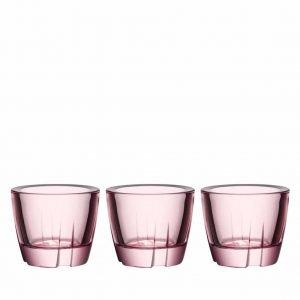 Kosta Boda Bruk Kynttilälyhty Vaaleanpunainen 6 Cm 3 Kpl