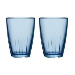 Kosta Boda Bruk Sininen Juomalasi Iso 2-pack
