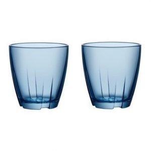 Kosta Boda Bruk Sininen Juomalasi Pieni 2-pack