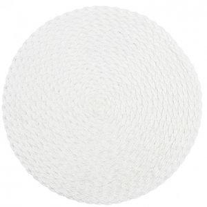 Kotikulta Tabletti Pyöreä Punos Valkoinen 38cm