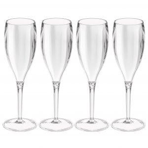 Koziol Cheers No. 1 Crystal Samppanjalasi Kirkas 4 Kpl
