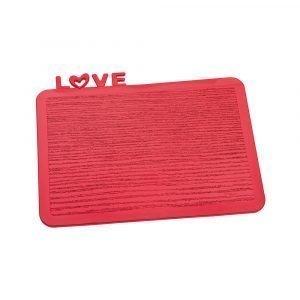 Koziol Happy Board Love Tarjotin Punainen