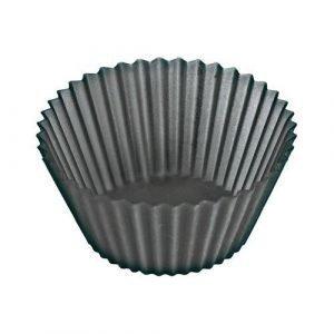Lékué Classic Muffinssimuotit Silikoni Musta 12-Pakkaus