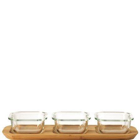 Leonardo Gusto Serveringsskål med bricka 4 delar