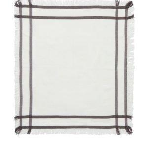 Lexington Fringe Servetti Valkoinen / Harmaa 50x50 Cm