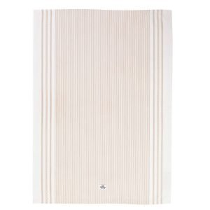 Lexington Icons Oxford Striped Keittiöpyyhe Beige 50x70 Cm