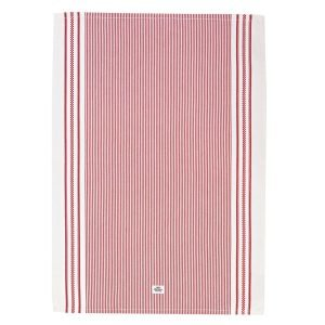 Lexington Icons Oxford Striped Keittiöpyyhe Punainen 50x70 Cm