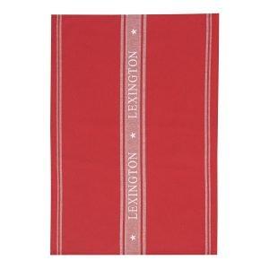 Lexington Icons Star Keittiöpyyhe Punavalkoinen 50x70 Cm