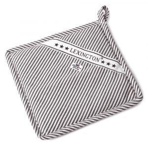 Lexington Oxford Striped Pannulappu Harmaa