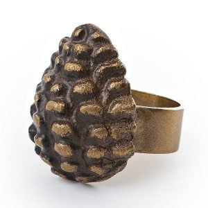 Lexington Pine Cone Servettirengas Ruskea