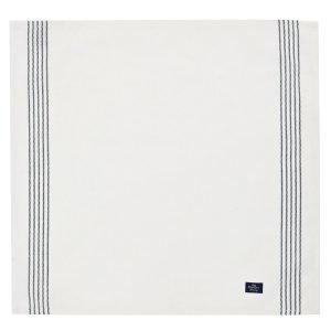 Lexington Servetti Raidallinen Valkoinen 50x50 Cm