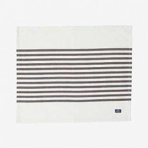 Lexington Striped Pöytätabletti Harmaa / Valkoinen 40x50 Cm
