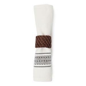 Lexington Striped Servetti Valkoinen / Harmaa 50x50 Cm