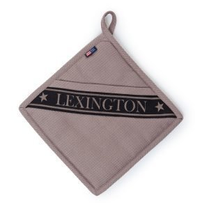 Lexington Waffle Pannulappu Beige / Musta