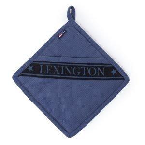 Lexington Waffle Pannulappu Sininen / Musta