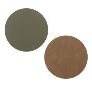 Lind Dna Circle Lasinalunen Army Green / Nature Ø10 Cm