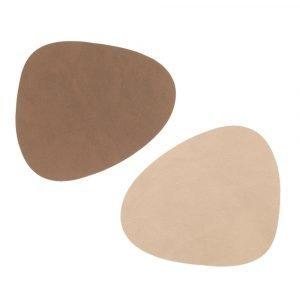 Lind Dna Curve Lasinalunen Brown / Sand 11x13 Cm