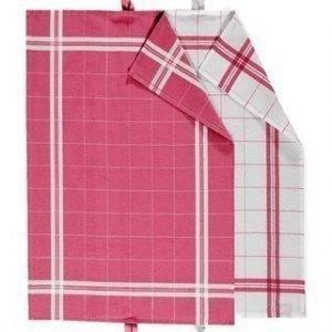 Linum COOK Keittiöpyyhe 2-PACK punainen/valkoinen